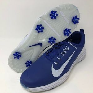 New Nike Lunarlon Golf Shoes 848968-500 Royal Blue